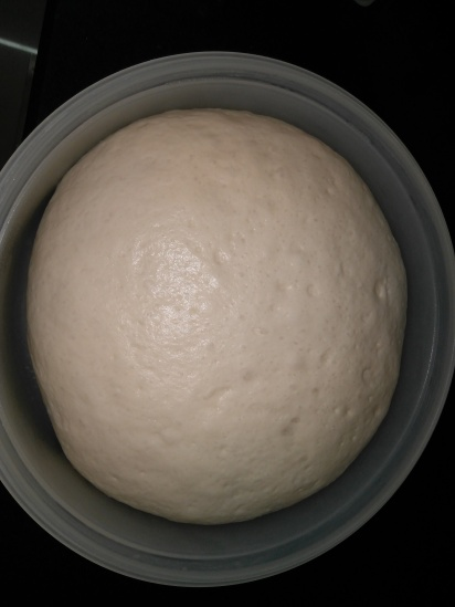 Dough double in size after proving