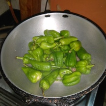 Chillies in the tadka / tempering of mustard & sesame seeds