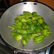 Chillies cooking in the initial stages. Dont cover the same while cooking